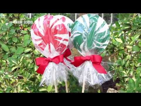 How To Make Giant Lollipops With Paper Plates