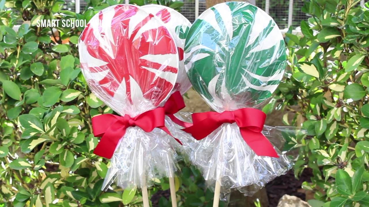 How to Make Giant Lollipops with Paper Plates & How to Make Giant Lollipops with Paper Plates - YouTube