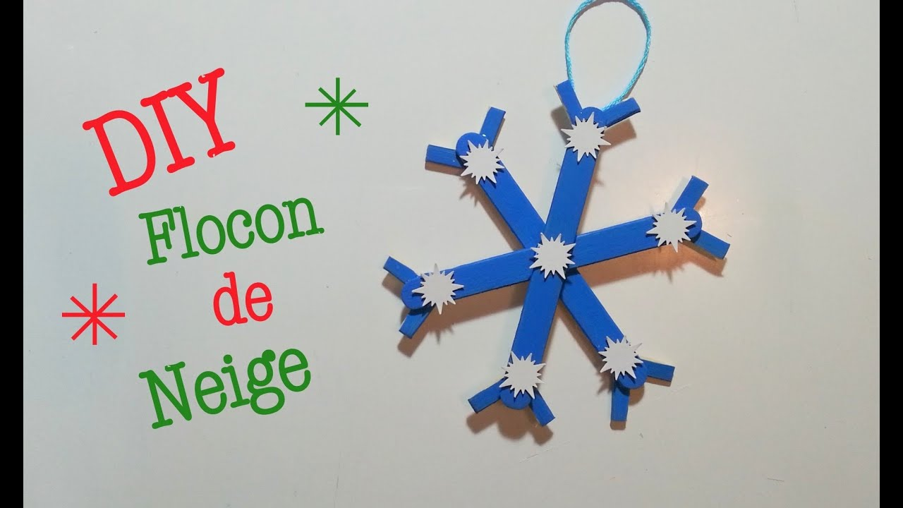 Diy d co noel flocon de neige avec b ton de glace youtube for Decoration glace