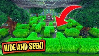 HIDE AND SEEK IN THE MAZE! *PLAYGROUND MODE!* | Fortnite Battle Royale Custom Games