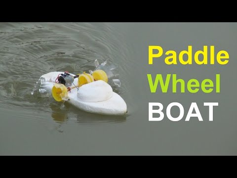 How to make a Paddle Wheel Boat very easy | Making toy