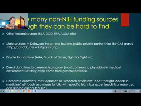 It's not all about the NIH-Other sources of grant funding and how to find them