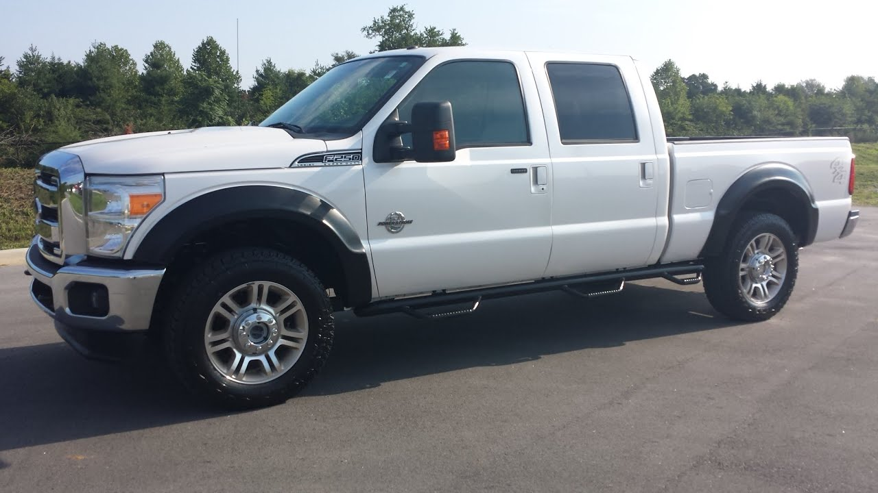 Sold 2011 ford f 250 super duty crew cab lariat white platinum 4x4 6 7 powerstroke diesel 1 owner youtube