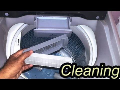How To Clean Top Load Washing Machine | Top Load Washing Machine Tub Cleaning | Samsung Washer clean