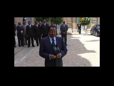Interview de S.E.M Paul BIYA après l'entretien avec le Président SARKOZY