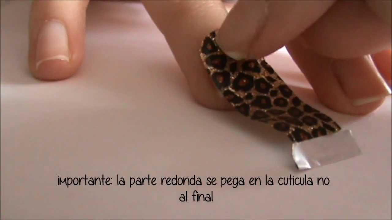 como poner pegatinas/stickers de uñas! ♤ FACIL - YouTube