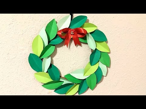 Paper Wreath For Christmas || Paper Wreath DIY || Paper Wreath Tutorial