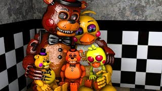 TOY CHICA FAMILY! Five Nights At Freddy's Animations Compilation FNAF SFM