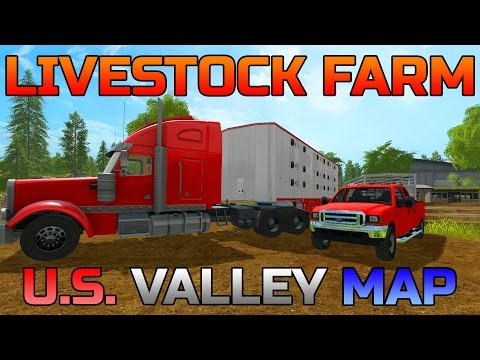 FARMING SIMULATOR 2017 | SETTING UP LIVESTOCK FARM | U.S. VALLEY MAP