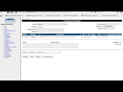 Ledger SMB Demo 08 - Handle Stock, RQF, Purchase Order, Shipping, Receiving, Reporting