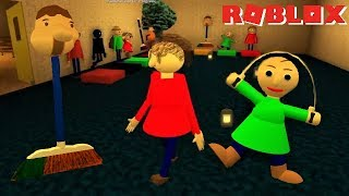 PLAY AS THE SWAPPED CHARACTERS IN BALDI'S BASICS!! | The Weird Side of Roblox: Baldi's Basics RP