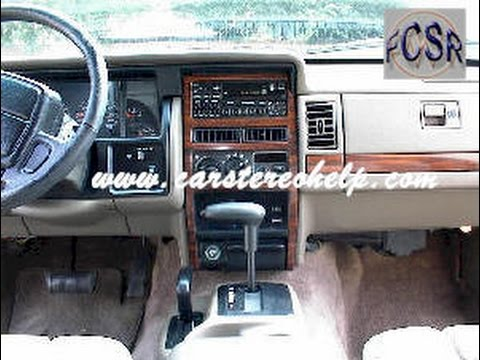 89 jeep cherokee stereo wiring diagram 220 outlet grand radio removal and installation youtube
