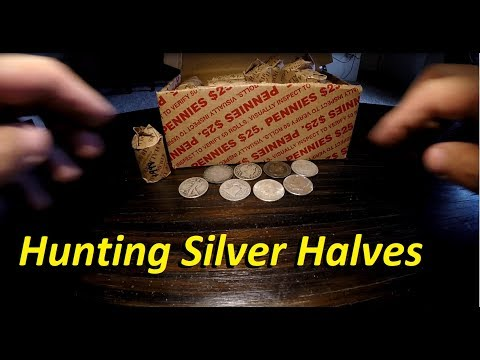 Hunting Silver Halves - A Coin Roll Treasure Hunt