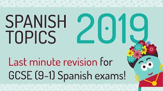 The spanish gcse exams are getting closer, but there's still time for top notch revision. here is a compilation of some most important topic vocabular...