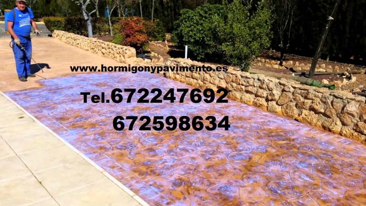Hormigon Impreso Precio m2 Albaladejo Tel.672247692 Ciudad Real ...