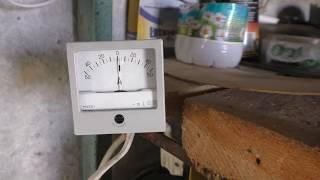 Система резервного питания в деревне в работе