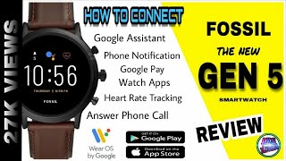 Fossil Gen 5 Smartwatch | Ftw 4026 | How to connect watch with Android or iOS | Full Review