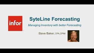 Manufacturing Performance Webinar:  SyteLine Forecasting SytePlan S&OP