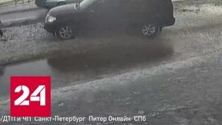 Водитель внедорожника сбил ребенка и поставил его на колени в снег