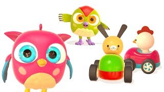 Os carros de brinquedo. HopHop a coruja. Desenhos  animados ...
