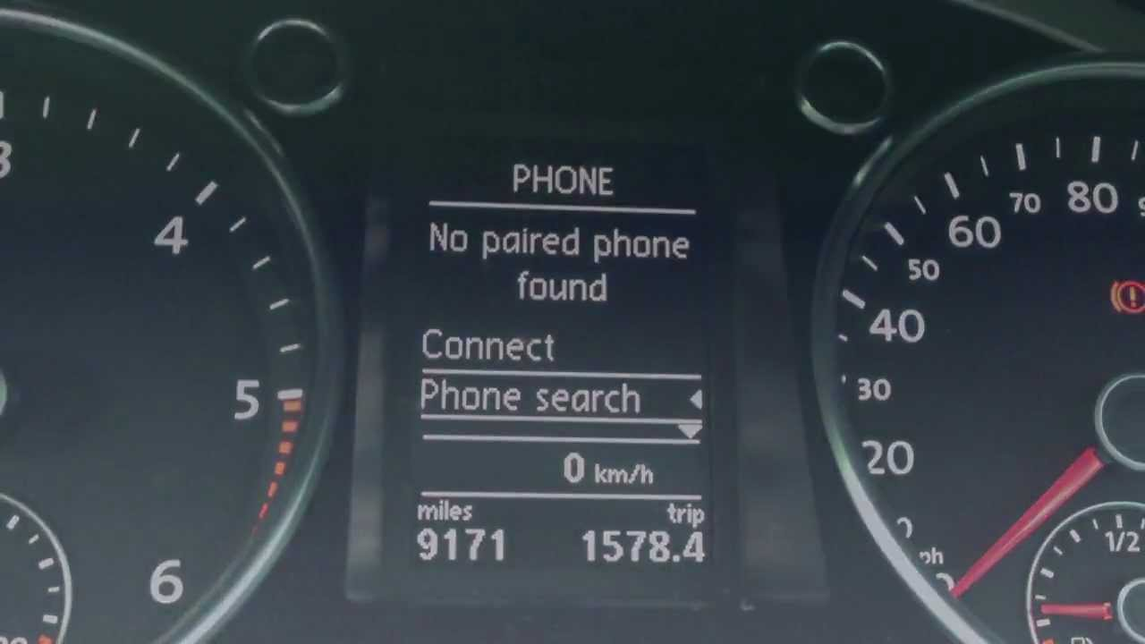 Pair a mobile phone to a VW Bluetooth kit -