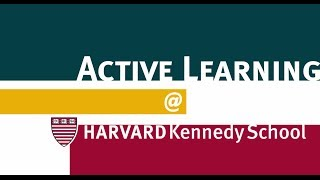 Active Learning @ Harvard Kennedy School