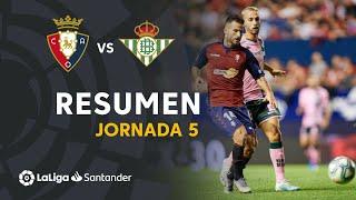 Resumen de CA Osasuna vs Real Betis (0-0)