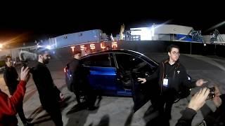 Tesla Model Y Unveil Test Drive