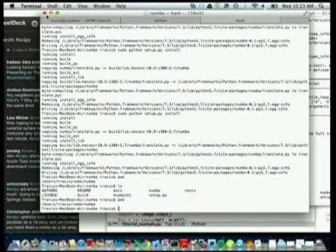 PyVideo org · Numba Python bytecode to LLVM translator
