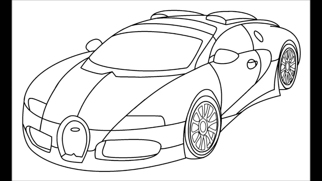 How to draw a Bugatti Veyron step by step for kids - YouTube
