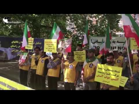 Free Iran: Iran resistance adherents' demonstration in Germany