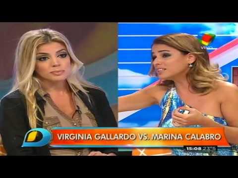 Reproches y escándalo: Virginia Gallardo vs. Marina Calabró