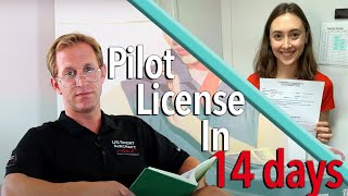 Get your pilot license in just TWO WEEKS!