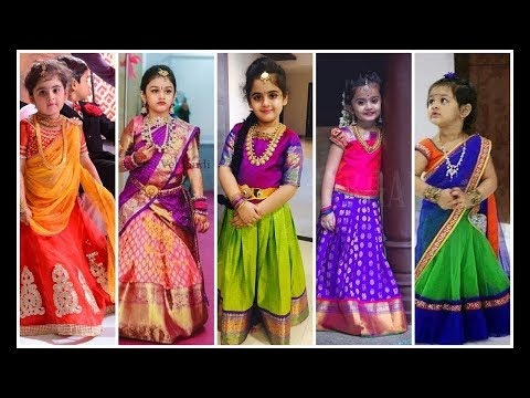 Latest kids Trational Pattu Pavadai Collections