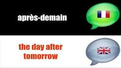 Französischunterricht = Französisch = ENGLISH # Gestern   heute   morgen