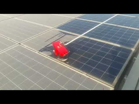Solar panel cleaning brush, motorised brush,  India Delhi