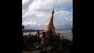 Floodwaters swallow Myanmar pagoda
