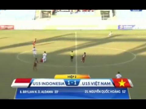 u15 vietnam 1 - 1 u15 indonesia 2017 | u15 : viet nam VS Indo (1 - 1) |.