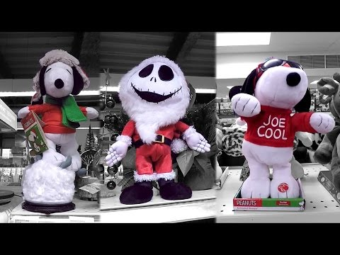 Christmas 2016 Animatronic Snoopy Figures - Peanuts Theme Song Dolls Halloween Full Episode