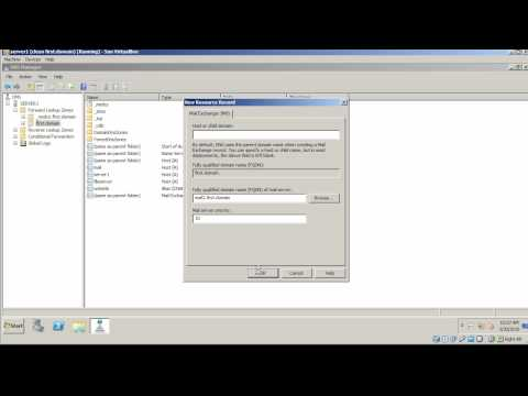 Windows Server 2008: Create Dns Records