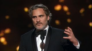 Joaquin Phoenix Deliver EMOTIONAL Best Actor Speech | Oscars 2020