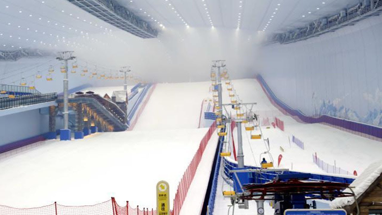 World s largest indoor ski resort opens in china ice