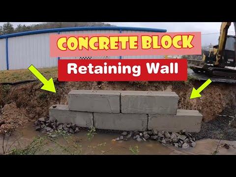 Concrete Retaining Wall Construction-Part 2