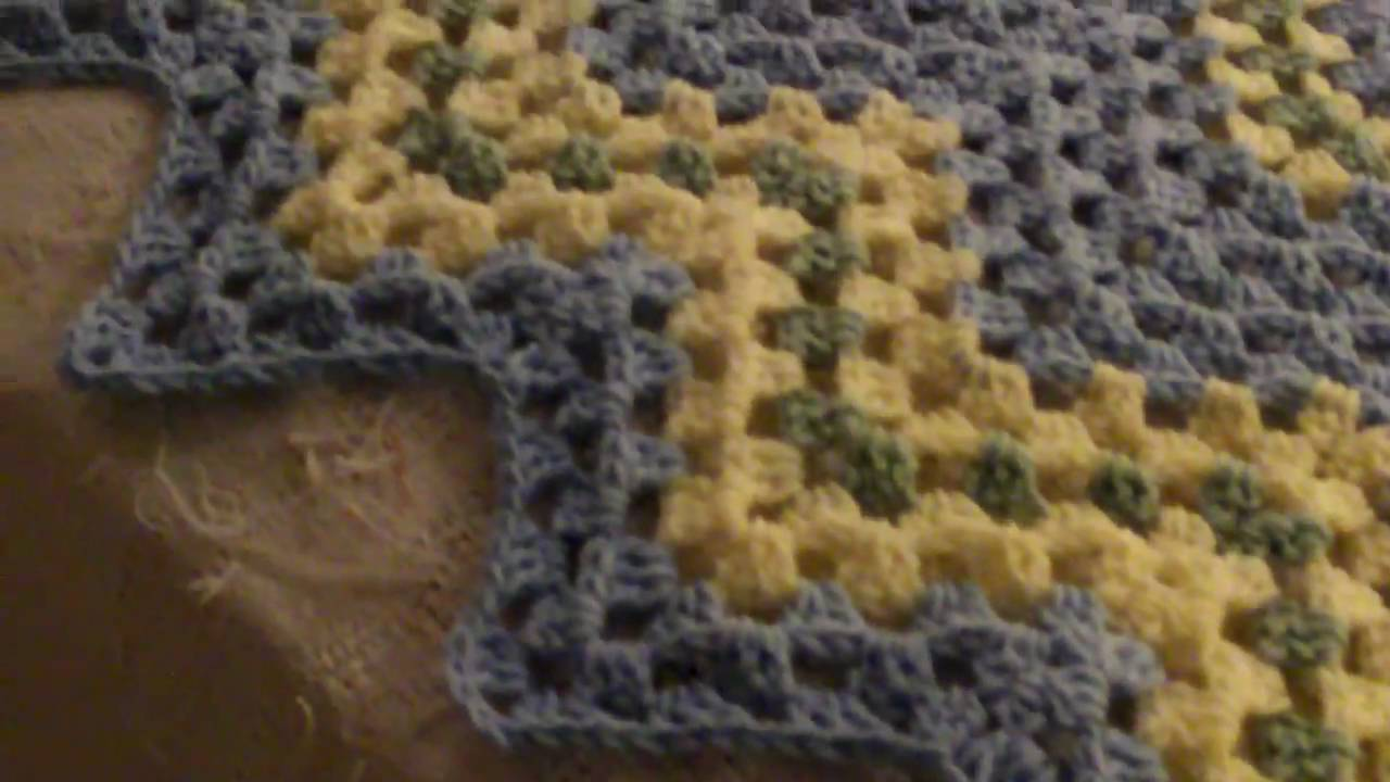 Baby Blue Granny Ripple blanket - YouTube