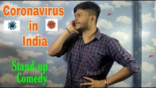 Coronavirus in India Stand-up comedy by Disshuboy dk | funny corona comedy in Hindi