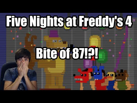 Five Nights at Freddy's 4 - The Bite of 87 Reaction!?
