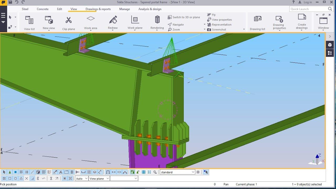 Best Tapered Portal Frame Structure Modelling in TEKLA STRUCTURE ...