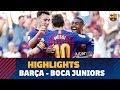 [HIGHLIGHTS] FC Barcelona – Boca Juniors  (3-0) Gamper Trophy