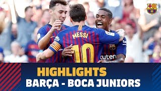 [HIGHLIGHTS] FC Barcelona – Boca Juniors  (3-0) Gamper Trophy