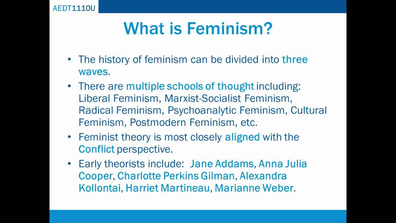 the history of feminism and idea behind the feminist theory Feminism definition is - the theory of the political, economic, and social equality of  the sexes  2 : organized activity on behalf of women's rights and interests —   brandon griggs, cnn, the most turbulent time in modern american history (it's  not  the belief that men and women should have equal rights and opportunities.